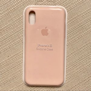 iPhone X/XS Apple Silicone Case (Pink Sand)